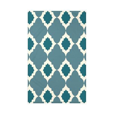 Nikhil Geometric Print Throw Blanket Size: 50 H x 60 W x 0.5 D, Color: Aqua