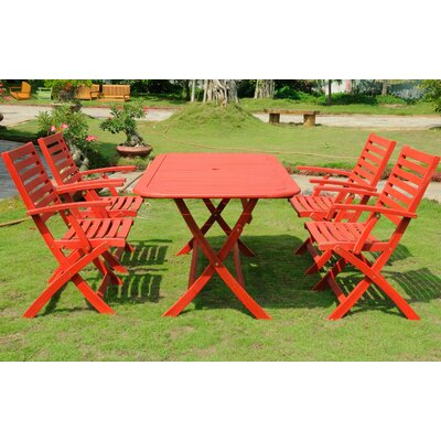 Marmol 5 Piece Dining Set Finish: Barn Red