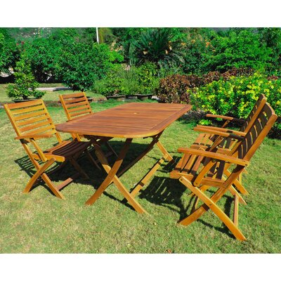 Marmol 5 Piece Dining Set Finish: Rustic Brown