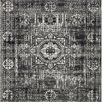 Coyne Black Area Rug Rug Size: Square 84