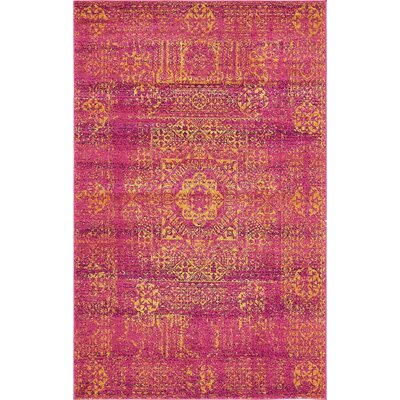 Craig Fuchsia Area Rug Rug Size: Rectangle 4 x 6