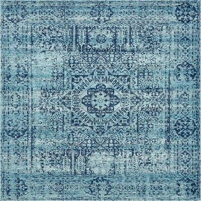 Nivedita Turquoise Area Rug Rug Size: Square 8'4