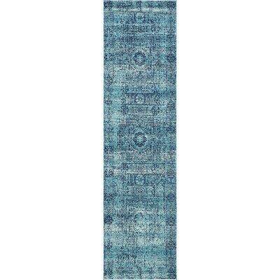 Nivedita Turquoise Area Rug Rug Size: Runner 2'7