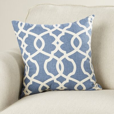 Alberts Damask Throw Pillow Size: 16.5 H x 16.5 W x 5 D, Color: Blue