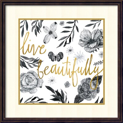 Live Beautifully Framed Textual Art