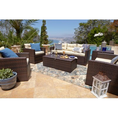 Minjares 6 Piece Sectional Seating Group with Cushion