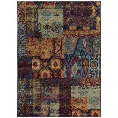 Tuma Blue Area Rug Rug Size: 110 x 33