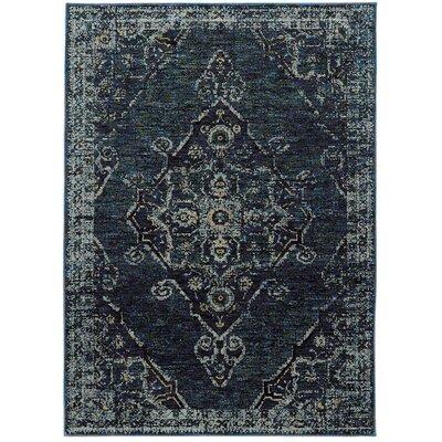 Tuma Medallion Blue Area Rug Rug Size: 66 x 910
