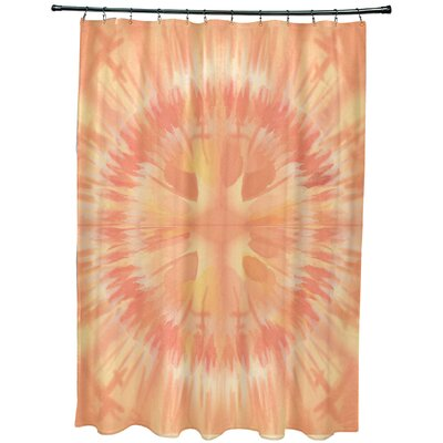 Armstrong Shibori Burst Shower Curtain Color: Yellow