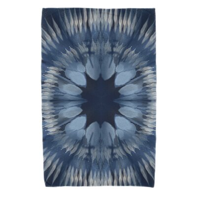 Armstrong Shibori Burst Beach Towel Color: Navy Blue