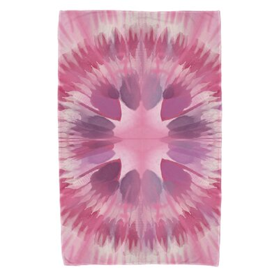 Armstrong Shibori Burst Beach Towel Color: Pink