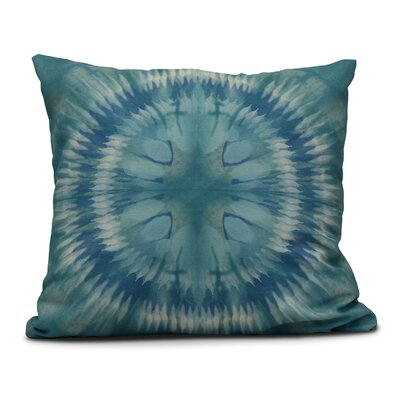 Dabria Shibori Burst Outdoor Throw Pillow Size: 18 H x 18 W, Color: Green