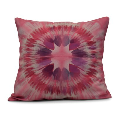 Armstrong Shibori Burst Outdoor Throw Pillow Size: 16 H x 16 W, Color: Pink