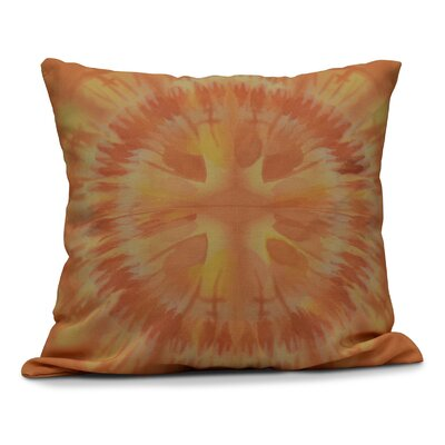 Armstrong Shibori Burst Outdoor Throw Pillow Size: 20 H x 20 W, Color: Yellow