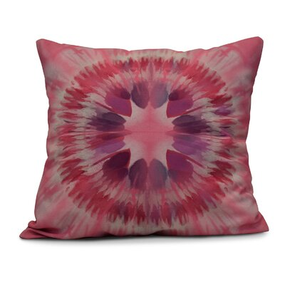 Armstrong Shibori Burst Throw Pillow Size: 16 H x 16 W, Color: Pink
