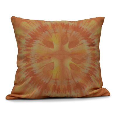 Armstrong Shibori Burst Throw Pillow Size: 18 H x 18 W, Color: Yellow