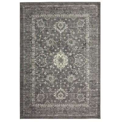 Soukup Patina Gray/Cream Area Rug Rug Size: Rectangle 7 x 10