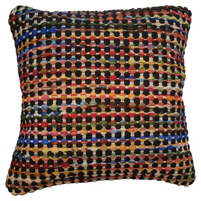 Rusin Throw Pillow Color: Black / Multi