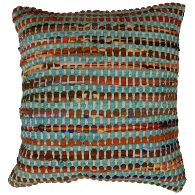 Rusin Throw Pillow Color: Turquoise / Multi