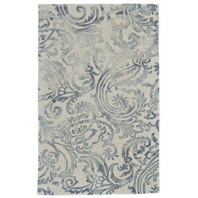Purpura Hand-Tufted Gray Area Rug Rug Size: 5 x 8
