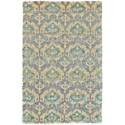 Padmini Handmade Green Area Rug Rug Size: 79 x 99