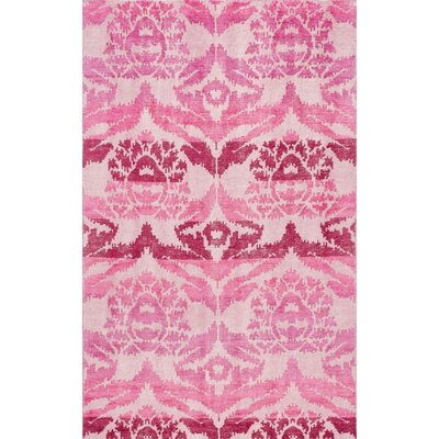 Pankaj Kayce Hand-Knotted Pink Area Rug Rug Size: Rectangle 5 x 8