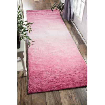 Sidhu Ombre Bernetta Hand-Tufted Pink Area Rug