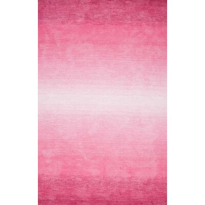 Sidhu Ombre Bernetta Hand-Tufted Pink Area Rug Rug Size: 76 x 96