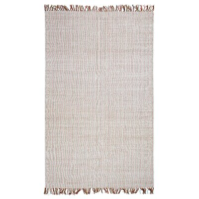 Curcio Boho West Hand-Woven White Area Rug Rug Size: Rectangle 8 x 10