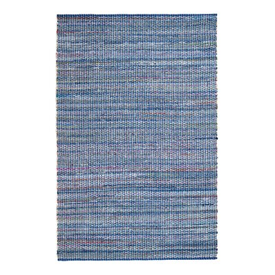Saint-Louis Boho North Hand-Woven Blue Area Rug Rug Size: 8 x 10