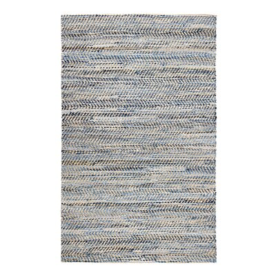 Mamer Hand-Woven Tan/Blue Area Rug Rug Size: Rectangle 4 x 6
