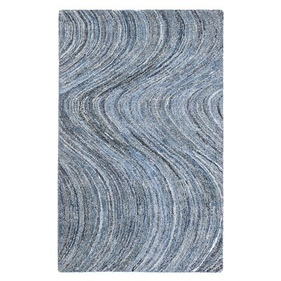 Mekdad Hand-Tufted Blue Area Rug Rug Size: Rectangle 5 x 8