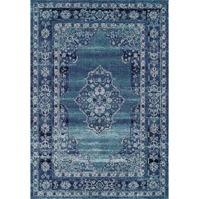Shanaya Aqua Area Rug Rug Size: Rectangle 92 x 125