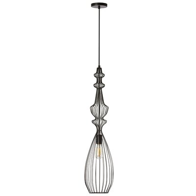 Flynn 1-Light Foyer Pendant Finish: Matte Black