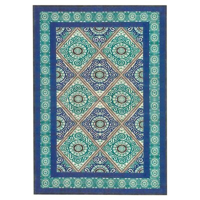 Jadida Blue/Green Area Rug Rug Size: Rectangle 53 x 76