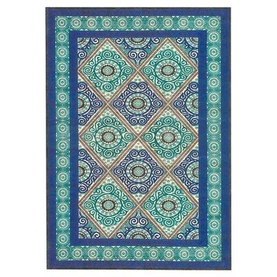 Jadida Blue/Green Area Rug Rug Size: 76 x 106
