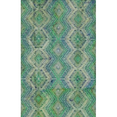 Veere Green/Blue Indoor/Outdoor Area Rug Rug Size: Rectangle 2 x 3