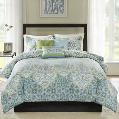 Reena 6 Piece Duvet Cover Set Size: Full / Queen