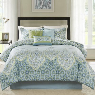Reena 7 Piece Comforter Set Size: California King
