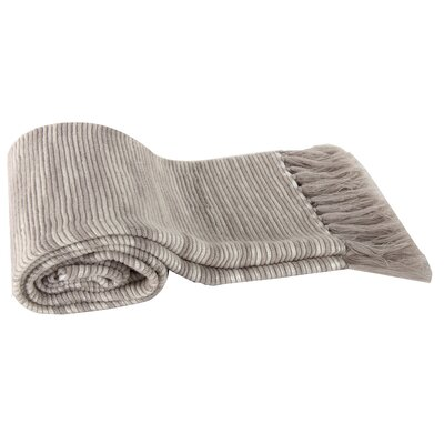 Deegan Heathered Throw Blanket Color: Beige
