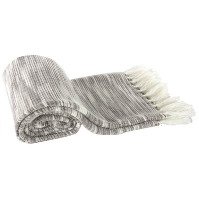 Deegan Heathered Throw Blanket Color: Gray