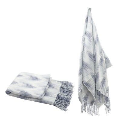 Elizabella Space Dyed Fringed Throw Color: Blue
