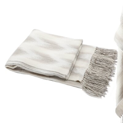 Elizabella Space Dyed Fringed Throw Color: Green