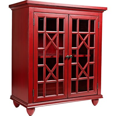 Osuna Accent Cabinet Finish: Vintage Crimson