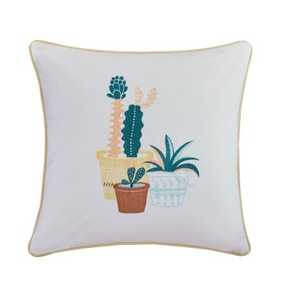 Mechra Embroidered Cotton Throw Pillow