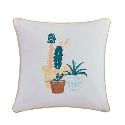 Mechra Embroidered Cotton Throw Pillow