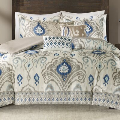 Kassia 6 Piece Duvet Cover Set Size: Full/Queen, Color: Taupe