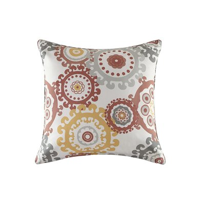 Edyth Outdoor Throw Pillow Size: 26 H x 26 W, Color: Coral