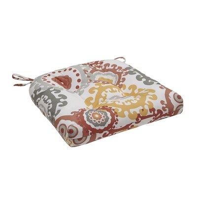 Edyth Outdoor Cushion Color: Coral