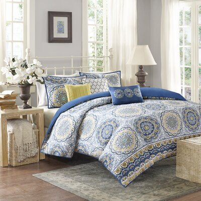Rabat 6 Piece 2-in-1 Duvet Set Size: King/California King